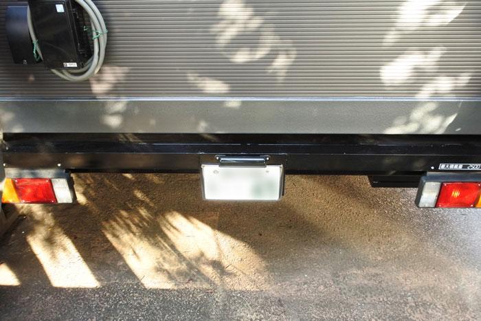 喫煙用トレーラーハウス ナンバープレート