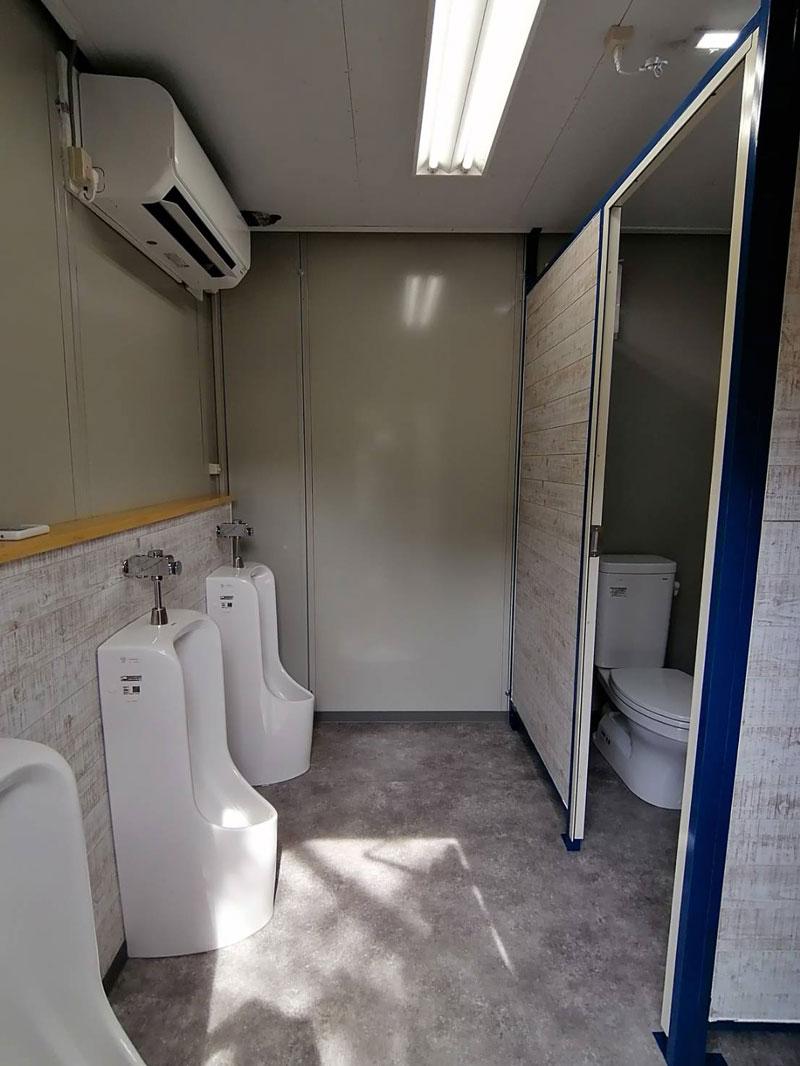エアコン付きトイレ