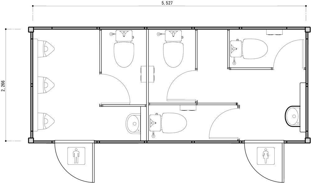トイレ用トレーラーハウス図面