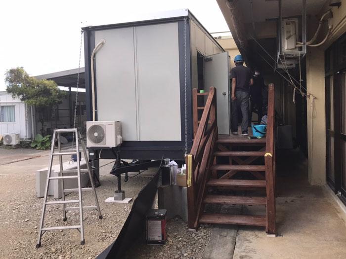 トイレ用トレーラーハウス