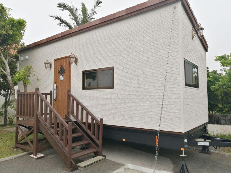 宿泊用トレーラーハウス